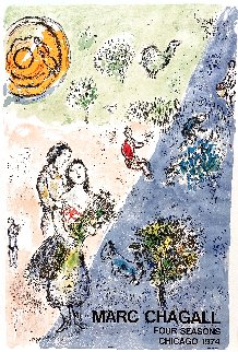 Four Seasons Poster - Chicago 1974 Limited Edition Print - Marc Chagall