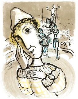 Le Cirque Au Clown Jaune 1978 HS  Limited Edition Print - Marc Chagall