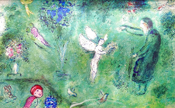 Philetas and His Orchard 1977 Limited Edition Print - Marc Chagall