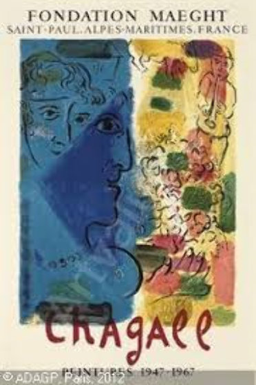 Leprofil Bleu Poster 1967 Other by Marc Chagall