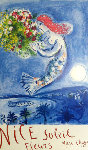Nice, Soleil Fleurs Poster 1962 (Early) Limited Edition Print - Marc Chagall
