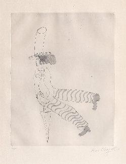 Pierrot Avec Parapluie (Man With Umbrella) 1927 HS Limited Edition Print - Marc Chagall