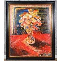 Monumental Bouquet   1936 60x48 Super Huge Original Painting by Yehouda Chaki - 1