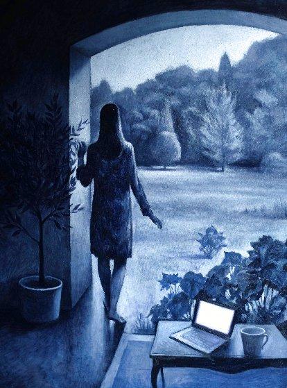 Monochrome II Original Painting by Marc Chalme