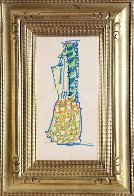 Blue Pineapple Drawing 1981 Works on Paper (not prints) by John Chamberlain - 1