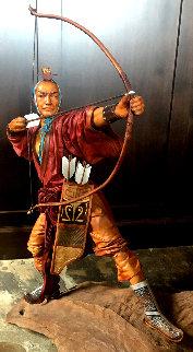 Archer Leather Sculpture 26 in Sculpture - Liu Miao Chan