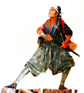Miyamoto Musashi Leather Sculpture 1996 26 in Sculpture - Liu Miao Chan