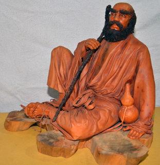 Untitled Unique Leather Sculpture 1991 Sculpture - Liu Miao Chan