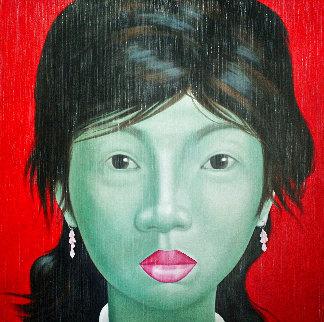 Eastern Beauties III 2014 55x55 Super Huge Original Painting - Jo Chanchai
