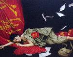 Red Youth 1996 41x33 Original Painting - Liu ChangWen