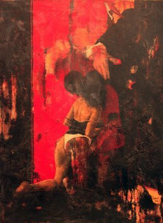 Pour Ceux Pour Qui Aimer Est Urgent 2002 51x38 Super Huge Original Painting - Jean Pierre Chardot