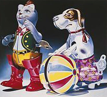 Circus Act 1995 Limited Edition Print by Charles Bell