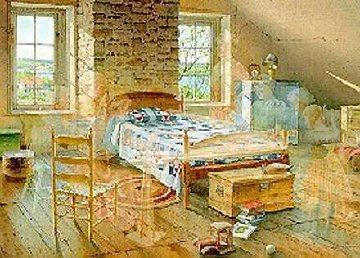 Grandma's Quilt 1994 Limited Edition Print by Charles Peterson