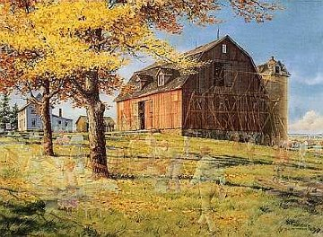 Neighbors: Barn Raising 1993 Limited Edition Print - Charles Peterson