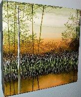 Willow Lake 2010 12x12 Original Painting by Robert Charon - 1