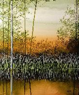 Willow Lake 2010 12x12 Original Painting by Robert Charon - 0