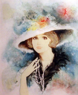 Michelle With Hat 1983 Limited Edition Print - Bernard Charoy