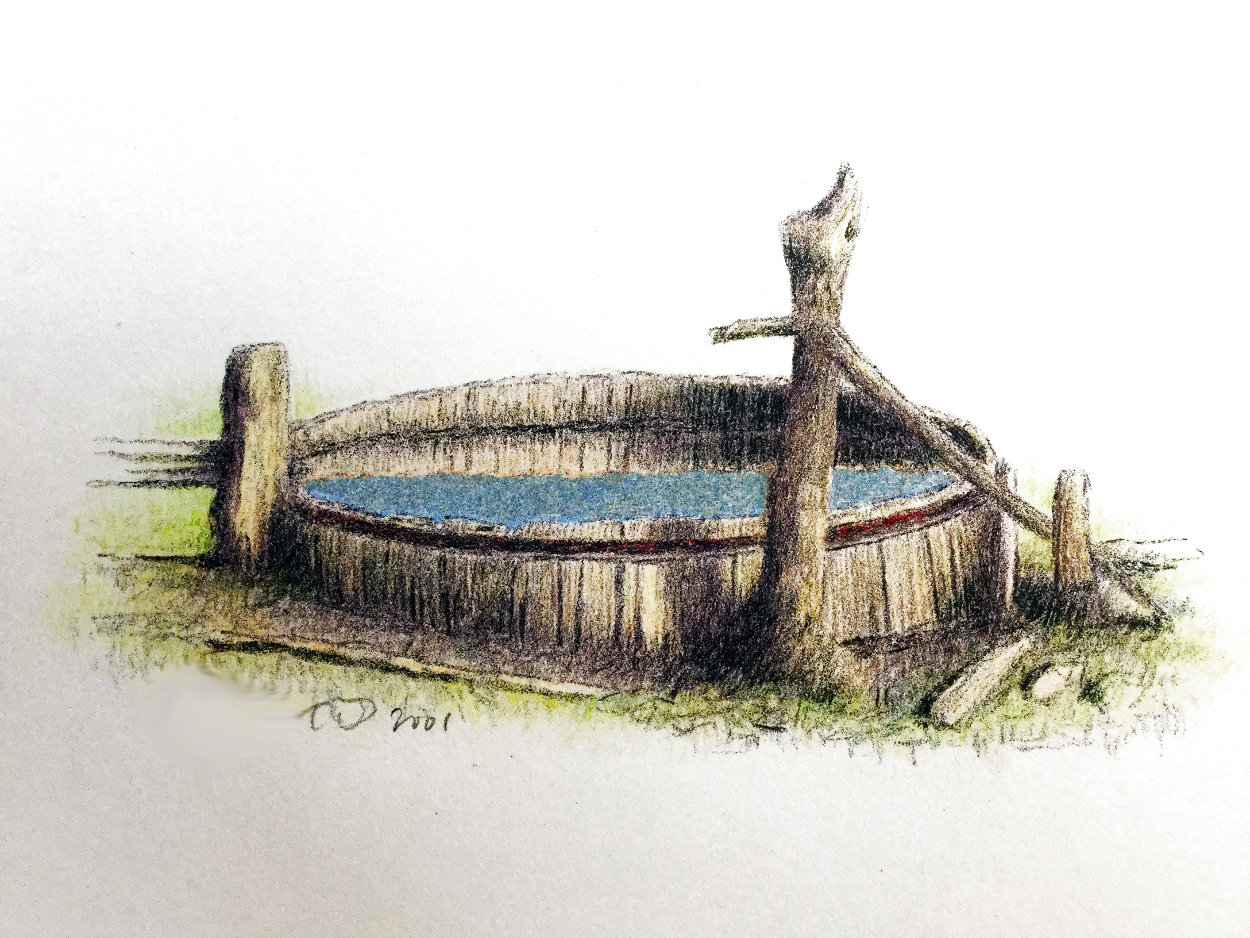 Untitled (Old Rustic Well) 2001 Limited Edition Print by Russell Chatham