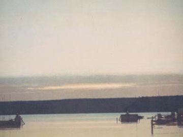 Harbor At Evening Limited Edition Print - Russell Chatham