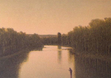 Fishing the Colorado 2000 Limited Edition Print by Russell Chatham