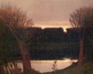 Pond in Fading Light 1992 Limited Edition Print by Russell Chatham