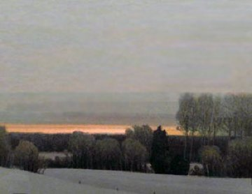 Sunset on a Winter Evening 1990 Limited Edition Print - Russell Chatham