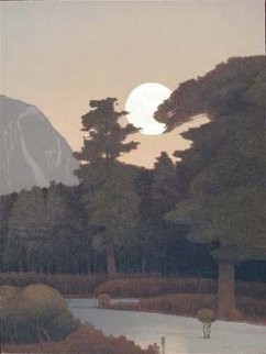 Spring Moonrise in the Sangre De Cristo Mountains 2000 Limited Edition Print by Russell Chatham