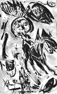 Cavalier Noir Limited Edition Print - Carl-Henning  Pedersen