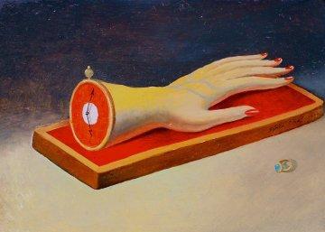 Arm-Clock 2002 14x16 Original Painting - Genia Chef
