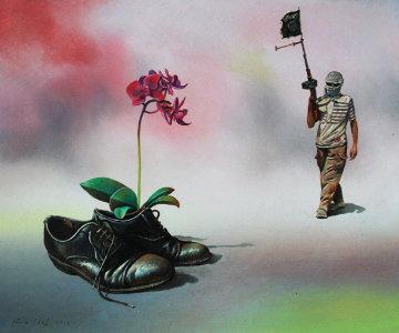 Desert Flowers 2014 Original Painting - Genia Chef
