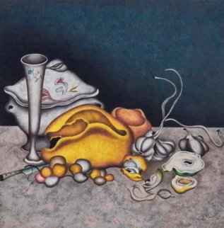 Nocturne in Grey And Gold 1990 Limited Edition Print - Mihail Chemiakin