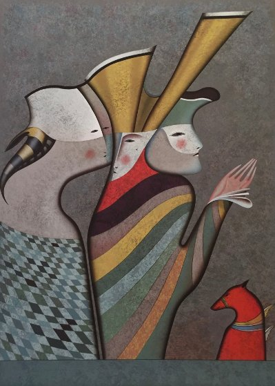 Hermitage Suite I - Masquerade At St. Petersburg 1994 Limited Edition Print by Mihail Chemiakin