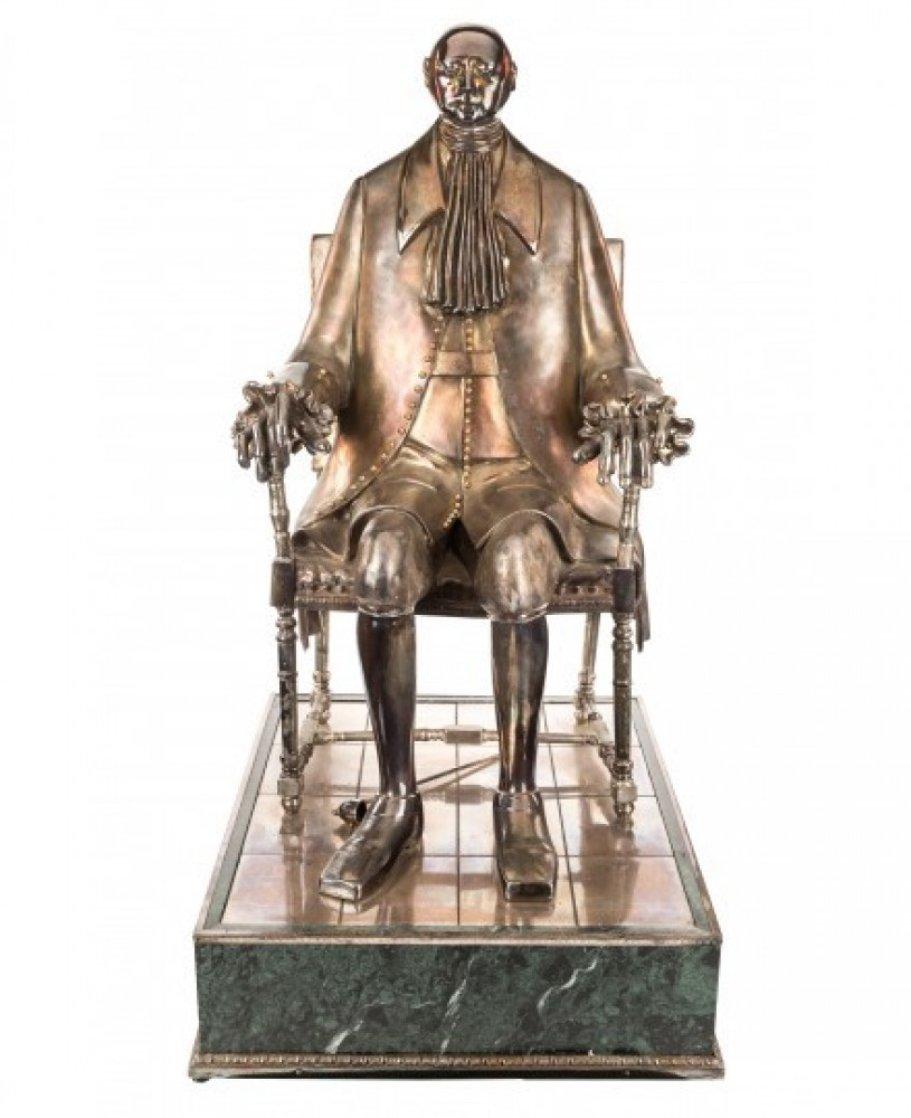 Peter I Silver Sculpture 2002 40 in Sculpture by Mihail Chemiakin