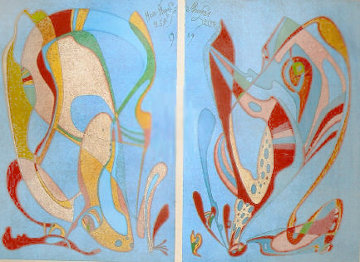 Moscow Museum Commemorative Suite Diptych  1989 Limited Edition Print by Mihail Chemiakin