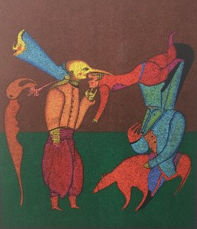 Acrobats 1980 Limited Edition Print - Mihail Chemiakin