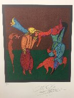 Acrobats 1980 Limited Edition Print by Mihail Chemiakin - 1