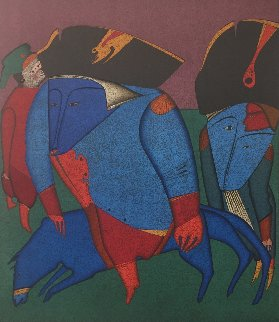 Two Soldiers 1977 Limited Edition Print by Mihail Chemiakin
