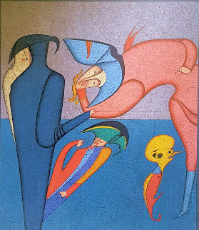 Carnival At St. Petersburg III 1975 Limited Edition Print - Mihail Chemiakin