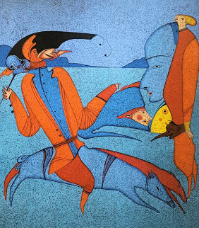 Carnival At St. Petersburg 1990 Limited Edition Print by Mihail Chemiakin