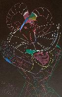 Dancing Fawn II 1983 52x39 Super Huge Original Painting by Mihail Chemiakin - 1