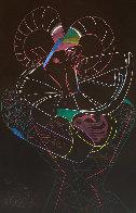 Dancing Fawn II 1983 52x39 Super Huge Original Painting by Mihail Chemiakin - 0