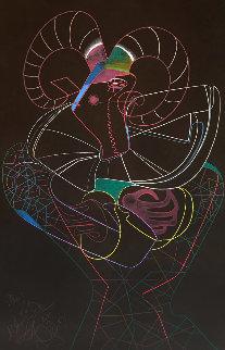 Dancing Fawn II 1983 52x39 Original Painting - Mihail Chemiakin
