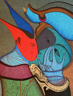 Metaphysical Kiss Limited Edition Print by Mihail Chemiakin