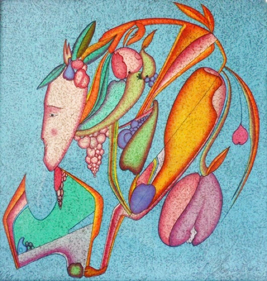 Fleur Metaphysical 1979 Limited Edition Print by Mihail Chemiakin
