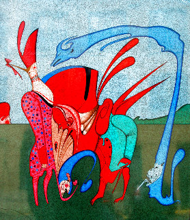 Curosity Bleu 1980 Limited Edition Print - Mihail Chemiakin