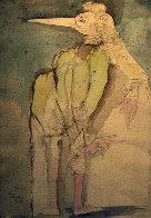 Rat  - Watercolor 1994  31x25 Watercolor by Mihail Chemiakin - 0