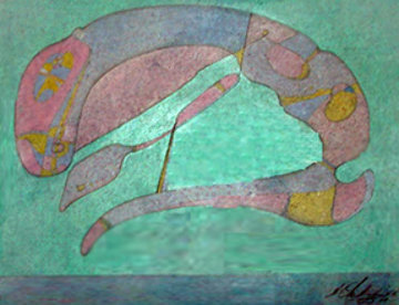 Metaphysic 101 1981 21x24 Original Painting - Mihail Chemiakin