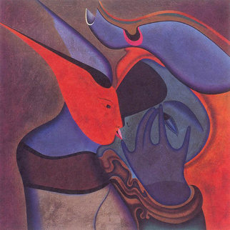 Le Baiser   The Kiss Limited Edition Print - Mihail Chemiakin