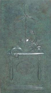 Alaska-Siberia Lend-Lease Program Commemoratory Bronze Plaque 2002 Sculpture Sculpture by Mihail Chemiakin