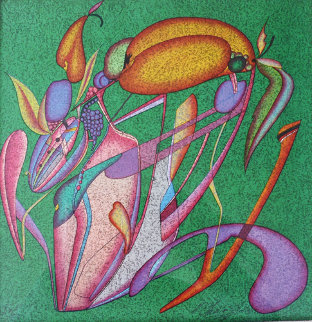 Metaphysical Flowers Image III 1989 Limited Edition Print by Mihail Chemiakin
